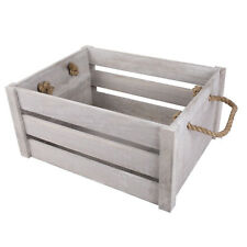 New Rope Handle Display Storage Wooden Crates shelve Box Christmas Gift Hampers