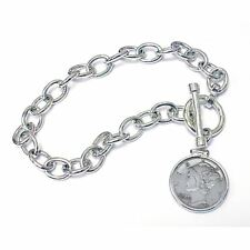 NEW  Year to Remember Sterling Silver Toggle Dime Coin Bracelet 1942
