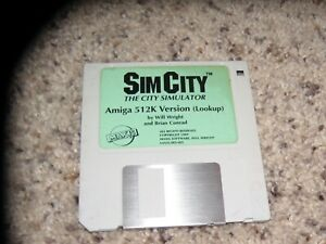 Sim City The City Simulator Amiga 512K Version (Lookup)