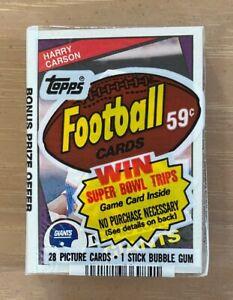 VINTAGE 1984 TOPPS NFL FOOTBALL CELLO PACK - MARINO ELWAY WARNER - HARRY CARSON