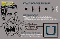 2 X Uber Lyft Sign Headrest 5 Star Ratings Placard Logo For Rideshare Car