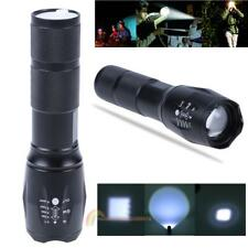 Rechargeable LED Flashlight Torch Power Bank Outdoor Hiking Camping Light Lamp