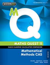 Maths Quest 11 Mathematical Methods CAS 3E Casio Classpad Calculator Companion '