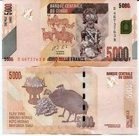 CONGO 5000 FRANCS 2013 P 102 UNC