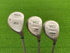 NICE Wilson Golf FATSHAFT OFFSET DRIVER + 3 & 5 WOOD SET Right Graphite LADIES