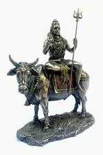 Bronze Hindu God Lord Shiv Shiva Shankar Sitting on Nandi Bull Statue Idol