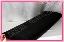Black 1.4m X 36m Soft Wedding Tulle Bolt Fabric Material Roll Drape Swag Pew Bow