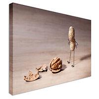 Food Kitchen Peanut People Comedy SINGLE CANVAS WALL ART Picture Print VA