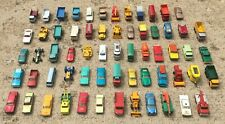 Lot of 63 Loose Used 1960's Matchbox Cars, Trucks. & Other Vehicles by Lesney