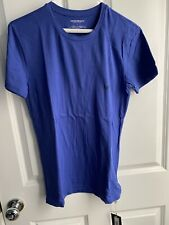 Emporio Armani Underwear short sleeve t-shirt size L blue stretch fit shirt new