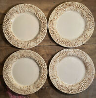 "Euro Ceramica Vineyard Dinner Plates Set of 4 - Diameter 11"""