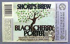 Short's Brewing BLACK CHERRY PORTER  beer label MI 12oz STICKER Var. #1 - UPC #