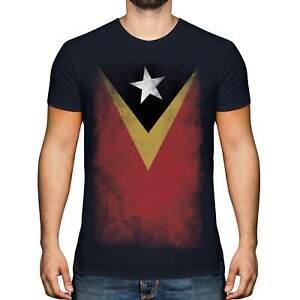 EAST TIMOR FADED FLAG MENS T-SHIRT TEE TOP TIMOR LOROSA'E TIMORESE TIMOR-LESTE