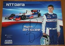 2014 Ryan Briscoe signed NTT Data Chevy Dallara Indy Car postcard