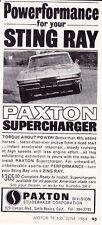 1964 CHEVROLET CORVETTE  /  PAXTON SUPERCHARGER  ~  ORIGINAL SMALLER PRINT AD
