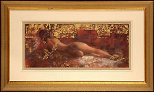 "David Freeman ""Secret Garden II"" Signed Numbered Serigraph Fine Art nude figure"