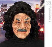 Scary Old Man Face Mask Ron Jeremy Halloween Fancy Dress