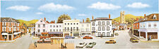"""PECO SK-29 Large Market Town Centre Scenic Background 228mm x 737mm (9""""x29"""") T48"""