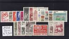Danimarca/Denmark 1978 Annata completa 20 valori MNH