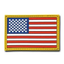 "Unites States American Us Flag Usa Tactical Rubber Patch Decal 3"" X 2"""