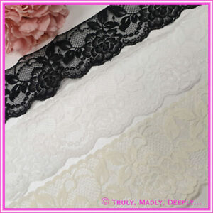 8cm Vintage Rose Lace in 3 Different Colours - Sold By the metre only