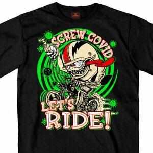 Screw The Virus 19 Pandemic 2020 Lets Ride Motorcycle Biker T Shirt GMS1474