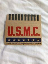 Vintage US MARINE CORPS Book of Pull Matches VERY OLD AND RARE Military Supply