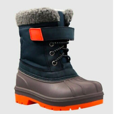 New Cat & Jack Valmai Winter Boots Navy Toddler Boys Shoe Size 5