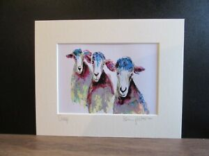 Sheep. Art print from an original painting by Suzanne Patterson.