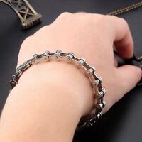 Titanium Steel Men's Bracelet Bike Link Chain Wristband Bangle Jewelry Exquisite