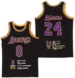 Men's Fashion Legend 8 Mamba 24 Bryant Basketball Jersey Mamba Mentality