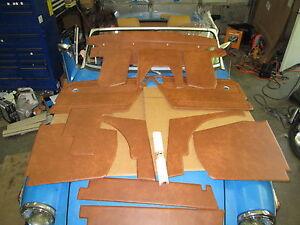 New 13 Piece Interior Panel Set w Door Panels for MG Midget 1970-79 Autumn Leaf