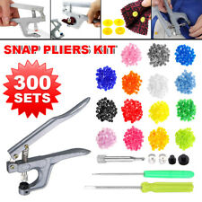 Button Fastener Snap Pliers 600 Sets T5 Plastic Resin Press Stud Cloth Diaper