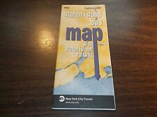 September 2006 New York City Transit Staten Island Bus Map