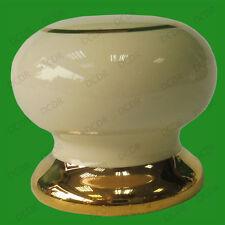 10x Harvington Ceramica Oro e Panna Pomello 35mm Armadietto Antine Armadio