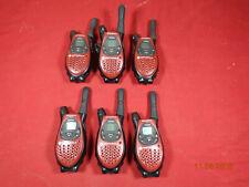 Motorola TalkAbout T5500 2-Way Radios Walkie Talkie Red  LOT 6  FREE SHIPPING