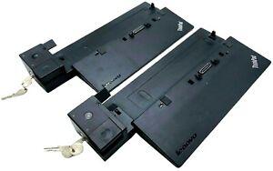 (LOT OF 2) Lenovo ThinkPad Pro Dock SD20A06038 - w/ KEYS + WARRANTY!