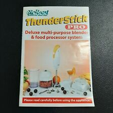 Thane Reliant Thunderstick Immersion Hand Blender Instruction Manual Replacement