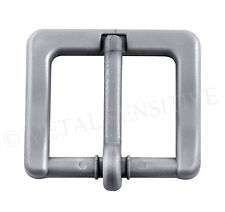 35MM Plastic Belt Buckle Non-Metallic Metal Free Airport Nickel Allergy SILVER
