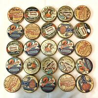 25 Vintage Classic Antique Style Tins - With Traditional Prints Wholesale Lot #1