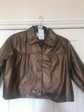 Ladies Papaya Matalan Jacket Size 16 BNWT Faux Leather Better Pics 2 Follow