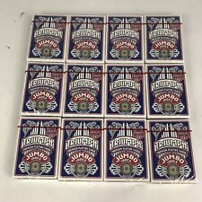 12 Decks of Jumbo Size Triumph Playing Cards Made In Usa Poker Game Blue New