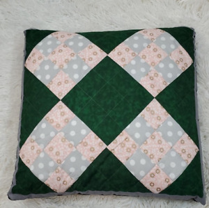 """Handmade 18"""" Quilted Accent Pillow"""