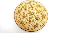 BAMBOO Flower of Life Grid Board 5 inch Healing Crystals Protection Blessing