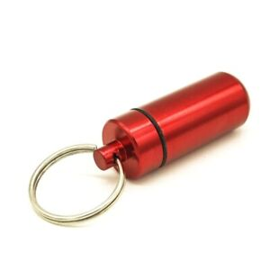 Outdoor Survival Pocket Aluminum Alloy Mini Waterproof Pill Box Case Drug Holder