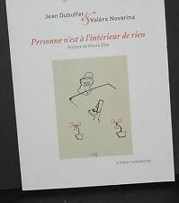 Personne n'est a l'interieur de rien Valere Novarina L'Atelier Contemporain Book
