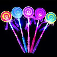 Lollipop Glow Sticks  Kids LED Light-Up ToyGirls Princess Flashing Wand 8 Pack