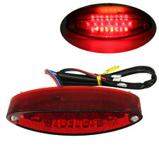 UNIVERSAL MOTORCYCLE RED 28 LED REAR BRAKE STOP TAIL LIGHT LICENSE NUMBER PLATE
