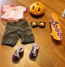 American Girl Pleasant Company Retired Helmet Skate Board shoes outfit cloth set