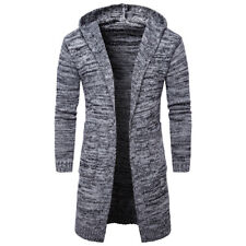 567497b3a38 Gray Winter Mens Fit Stylish Trench Coat Thick Double Breasted Long Jacket  L N